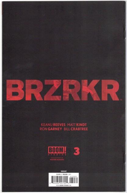 Brzrkr #3 1:25 Jenny Frison Variant Boom! 2021 Matt Kindt Keanu Reeves VF/NM