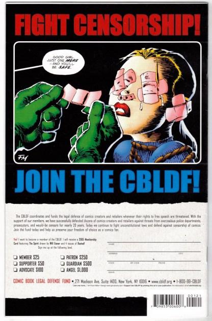 CBLDF Presents Liberty Comics #1 2nd Print J Scott Campbell Variant Image VF/NM