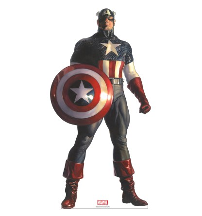 Alex Ross Marvel Timeless Collection Cardboard Standups -- Captain America
