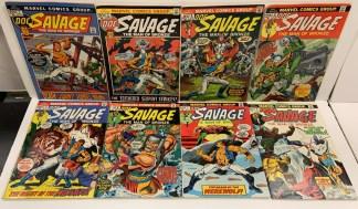 Doc Savage #1-8 Complete Set Marvel 1972 F/VF