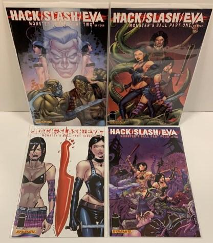 Hack Slash Eva Monster's Ball #1-4 Complete Set Image Dynamite 2011 VF/NM