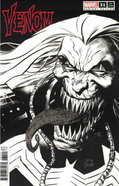 Venom #31 1:100 Stegman B&W Sketch Variant Knull Marvel 2018 Cates