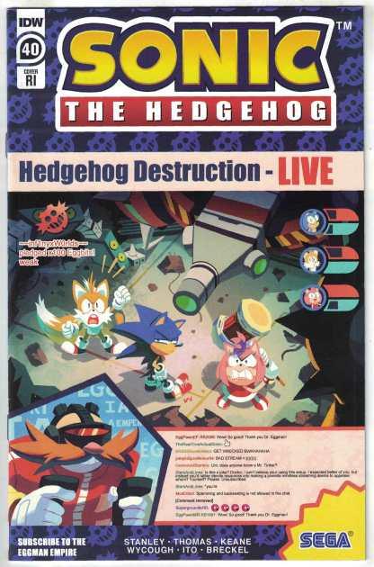 Sonic the Hedgehog #40 1:10 Fourdraine RI Variant IDW 2018 VF/NM