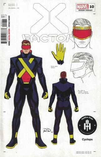 X-Factor #10 1:50 Dauterman Cyclops Design Variant Hellfire Gala Marvel 2020