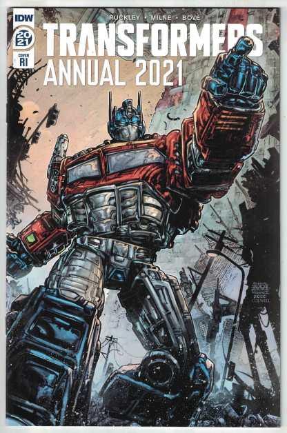 Transformers Annual 2021 1:10 Williams II Variant Optimus Prime IDW 2017 VF/NM
