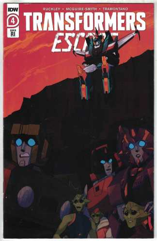 Transformers Escape #4 1:10 Red Powell Variant IDW 2020 Brian Ruckley VF/NM
