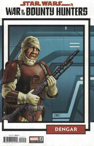 Star Wars War of the Bounty Hunters #2 1:25 Cassaday Card Variant Marvel 2021