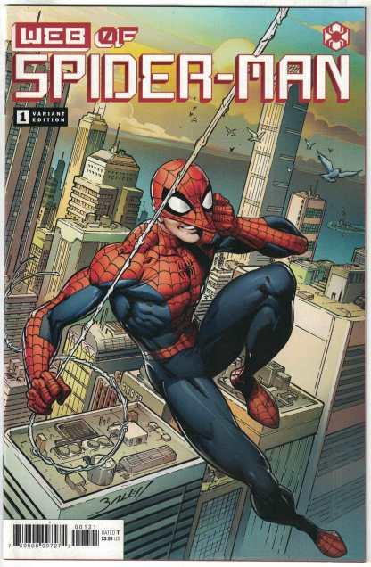 Web of Spider-Man #1 1:25 Bagley Variant Marvel 2021 VF/NM 1st Harley Keener