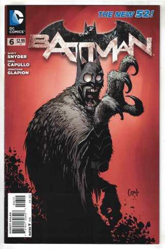 Batman #6 2nd Print Capullo Variant Snyder DC 2011 VF