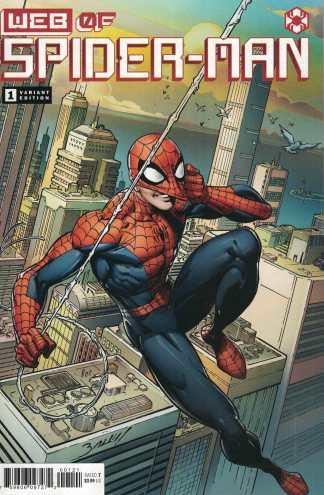 Web of Spider-Man #1 1:25 Bagley Variant Marvel 2021 1st Harley Keener