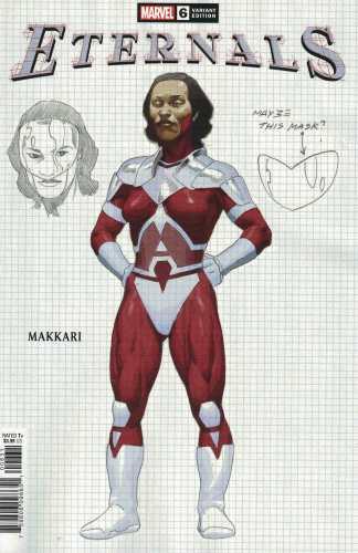 Eternals #6 1:10 Esad Ribic Design Variant Makkari Marvel 2021 Kieron Gillen