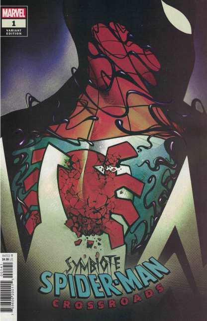 Symbiote Spider-Man Crossroads #1 1:25 Mike Del Mundo Variant Marvel 2021