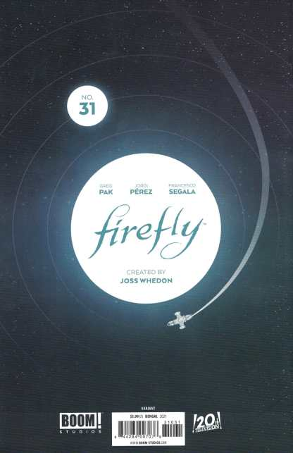Firefly #31 1:10 Bengal B&W Virgin Sketch Variant Boom 2018
