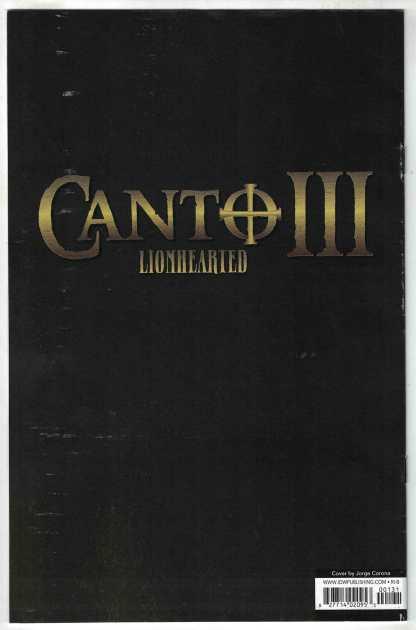 Canto III #1 1:25 Jorge Corona Variant IDW 2021 David Booher F/VF