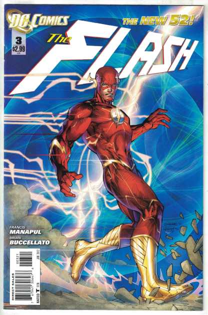 Flash #3 Limited Edition Jim Lee Variant DC New 52 2011 VF/NM