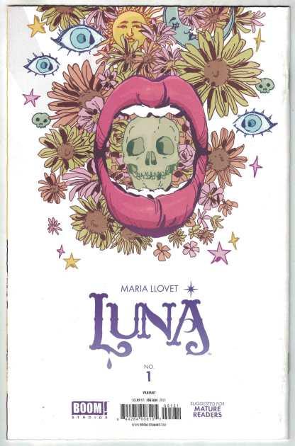 Luna #1 1:25 Jenny Frison Virgin Variant Boom 2021 Maria Llovet VF/NM