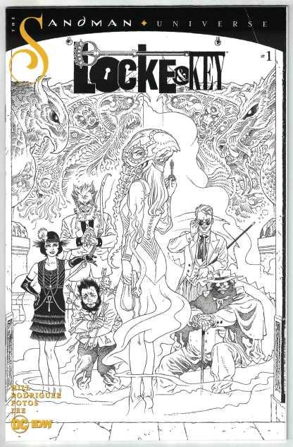 Locke & Key Sandman Hell & Gone #1 1:10 Rodriguez B&W Variant IDW 2020 VF/NM