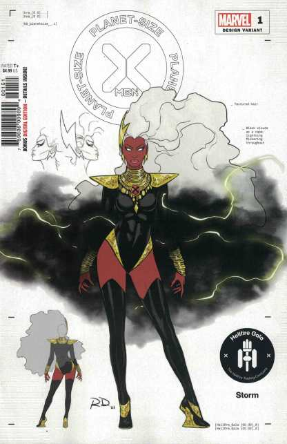 Planet Size X-Men #1 1:50 Russell Dauterman Design Variant Storm Marvel 2021