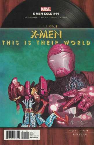 X-Men Gold #11 1:5 Del Mundo Rock N Roll Variant Queen Marvel 2017
