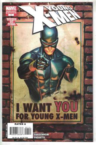 Young X-Men #1 Peterson Cyclops Uncle Sam Variant Marvel 2008 VF/NM