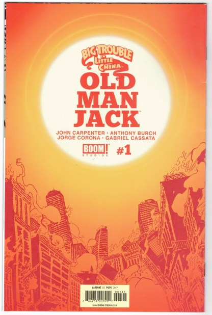 Big Trouble in Little China Old Man Jack #1 1:25 Pope Virgin Variant 2017 VF/NM