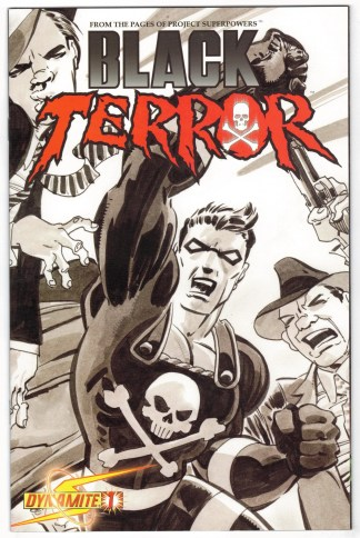 Black Terror #1 1:20 Tim Sale Variant Project Superpowers 2008 VF/NM