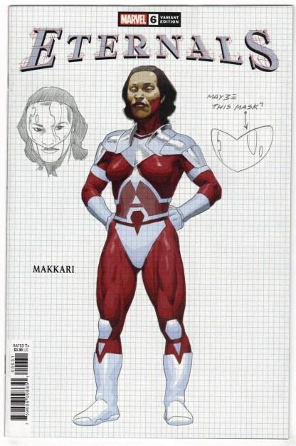 Eternals #6 1:10 Ribic Design Variant Makkari Marvel 2021 Kieron Gillen VF/NM