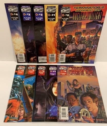 Terminator 2 Nuclear Twilight #0-4 & Cybernetic Dawn #0-4 Complete 1995 VF/NM