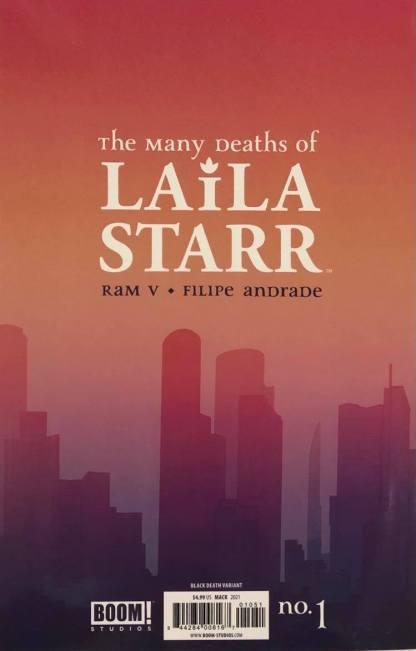 Many Deaths of Laila Starr #1 1:100 David Mack Foil Virgin Variant Boom 2021