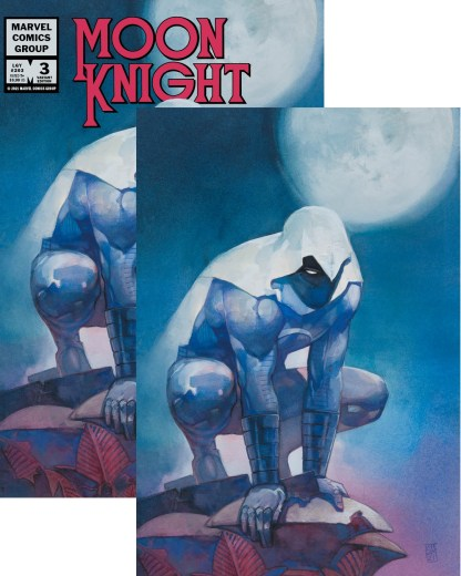 Moon Knight #3 Ultimate Exclusive Alex Maleev Virgin/Logo Variant Set-Ships 9/22