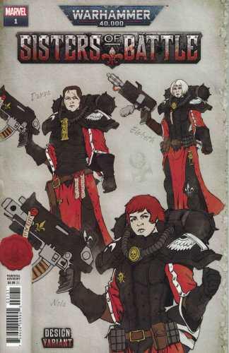 Warhammer 40k Sisters of Battle #1 1:25 Salazar Russell Design Variant Marvel 2021