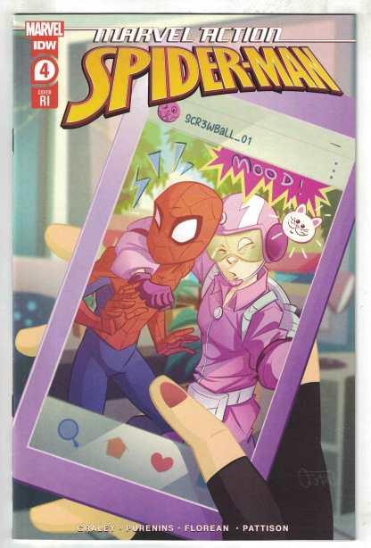 Marvel Action Spider-Man #4 1:10 Florean Variant IDW Screwball 2020 VF/NM