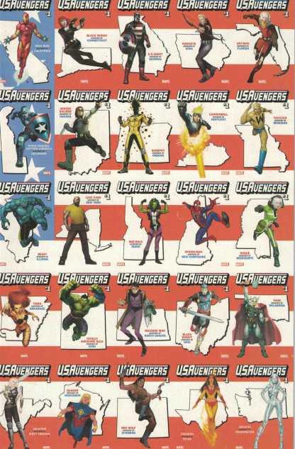 US Avengers #1 One Per Store Reis States Flag Wraparound Variant Marvel 2016