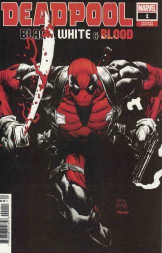Deadpool Black White & Blood #1 1:25 Stegman Variant Marvel 2021