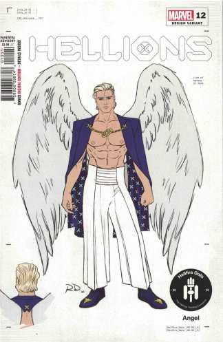Hellions #12 1:50 Dauterman Design Variant Angel Marvel 2020 Hellfire Gala