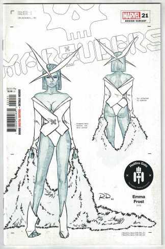 Marauders #21 1:50 Dauterman Design Variant Emma Frost Marvel 2019 NM-