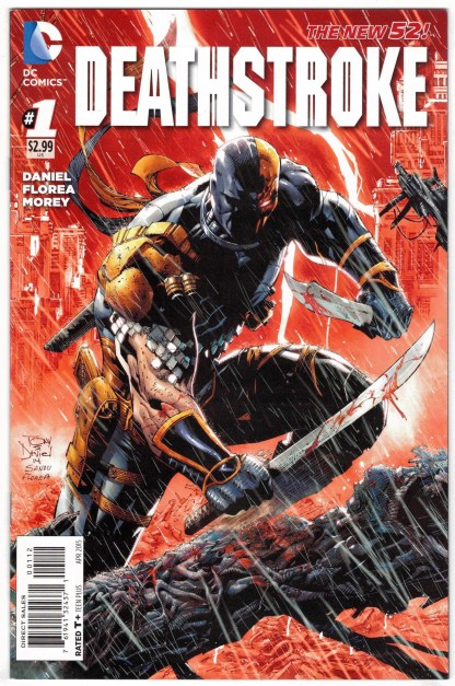 Deathstroke #1 2nd Printing Tony S Daniel Cover DC 2011 VF/NM