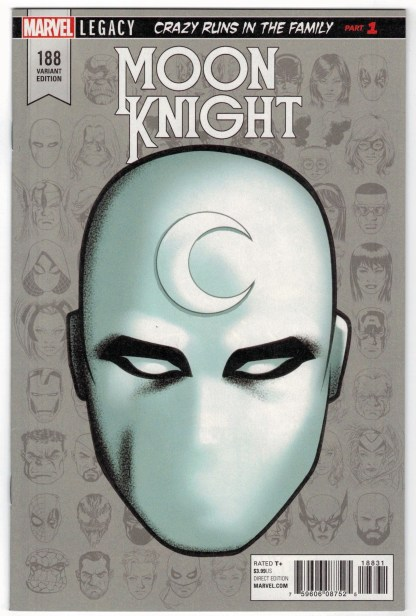Moon Knight #188 1:10 Mike McKone Headshot Variant Marvel Legacy VF/NM