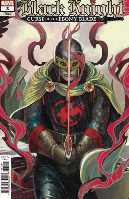 Black Knight Curse of the Ebony Blade #3 1:25 Stephanie Hans Variant Marvel 2021