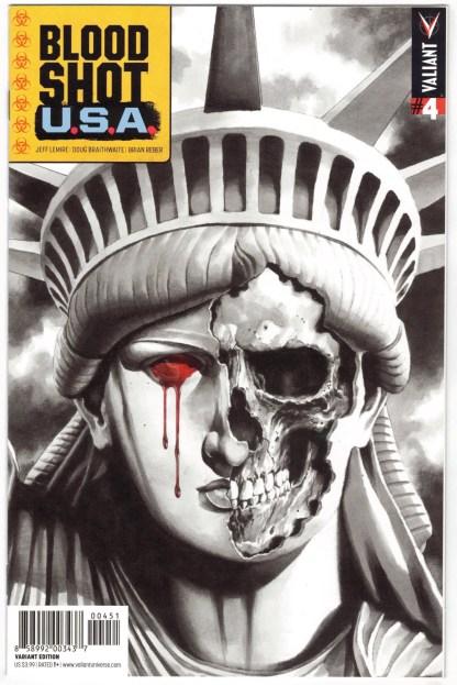 Bloodshot USA #4 1:50 Mico Suayan Variant Valiant 2016 VF/NM