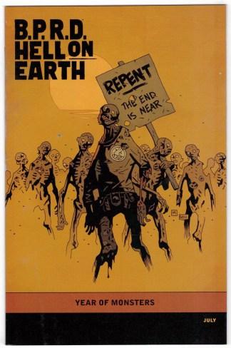 BPRD Hell on Earth Devil's Engine #3 1:5 Mignola Variant Dark Horse 2012 VF/NM