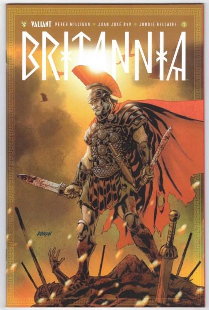 Britannia #1 1:50 Dave Johnson Variant Cover F Valiant 2016 Milligan Ryp VF/NM