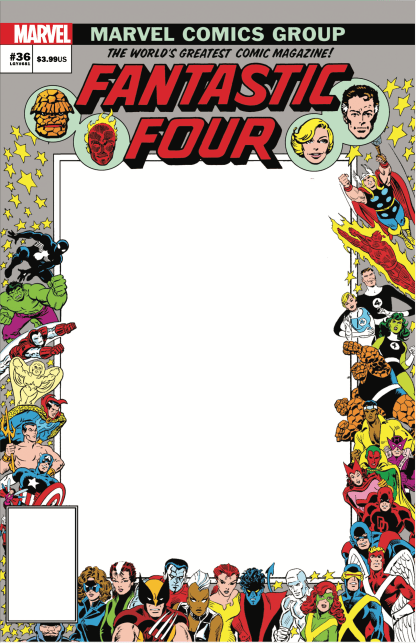 Fantastic Four #36 John Romita Sr Blank Sketch Variant Marvel 2018 -Ships 9/22