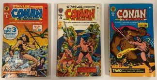 Conan the Barbarian vol #1, 3, 4 Ace Digest-Size Marvel 1978 Reprints VF