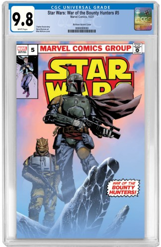 Star Wars War of the Bounty Hunters #5 Ultimate Comics Exclusive Mike McKone Variant CGC 9.8 NM/NM+ PREORDER