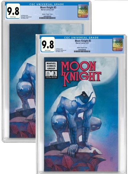 Moon Knight #3 Ultimate Exclusive Alex Maleev Virgin/ Logo Set of Two Variants Both CGC 9.8 NM/NM+ PREORDER