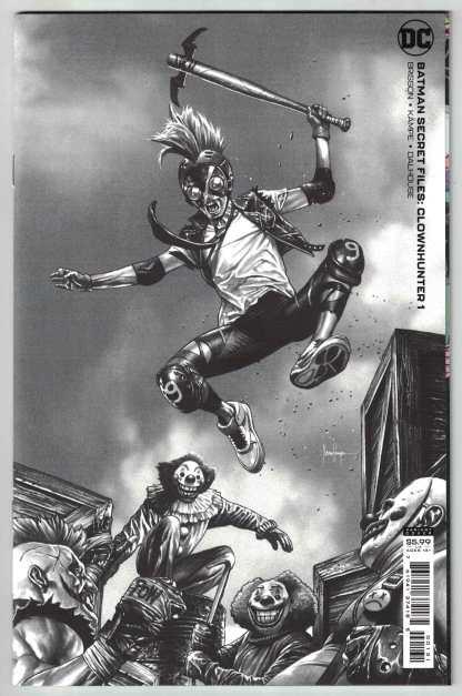 Batman Secret Files Clownhunter #1 1:25 Suayen B&W Variant DC 2021 VF/NM