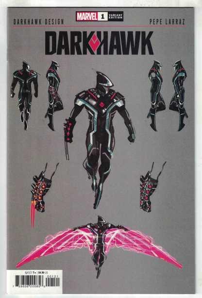 Darkhawk #1 1:10 Larraz Design Variant Marvel 2021 VF/NM
