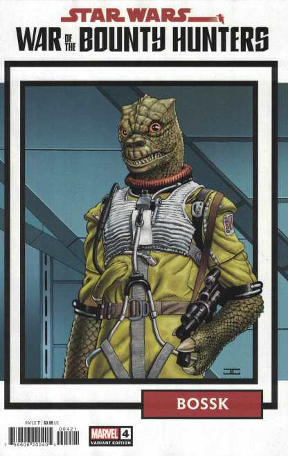 Star Wars War of the Bounty Hunters #4 1:25 Bossk Trading Card Variant 2021