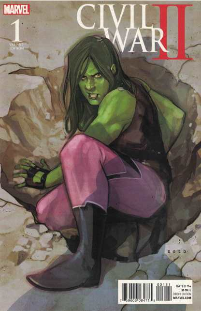 Civil War II #1 1:10 Phil Noto She-Hulk Variant Marvel 2016 Brian Michal Bendis